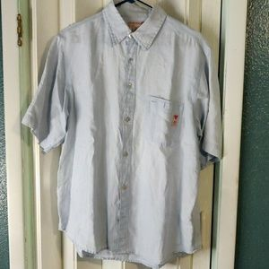 3 For $20 Guess Linen Short Sleeve Shirt. Size M